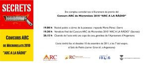 Microrelats ARC a la ràdio 2010